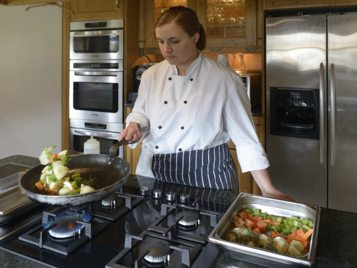 Chef Whitney at Chalet Valhalla