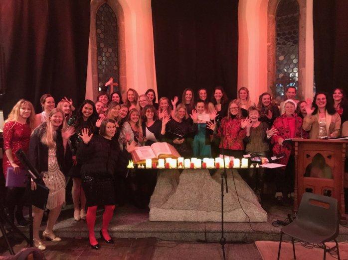 Chambelles Choir Church Service