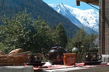 summer deck breakfast mt blanc