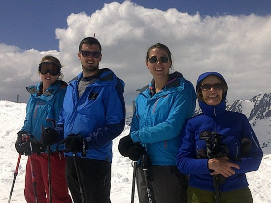 collineige team skiing in Chamonix
