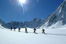 Splitboarding in Chamonix.  The Sunday Times